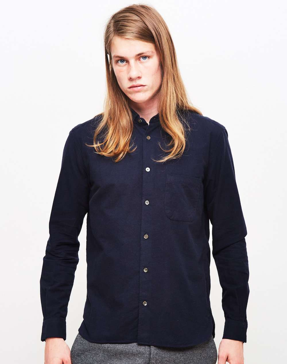 YMC Navy Shirt men