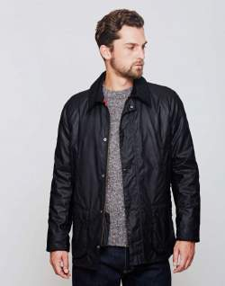 BARBOUR Ashby Waxed Field Jacket Black mens
