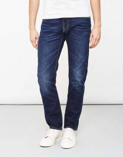 Edwin ED-55 Relaxed Tapered Jeans Deep Blue Denim Coal Washed jeans mens
