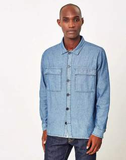 The Idle Man Denim Shirt men