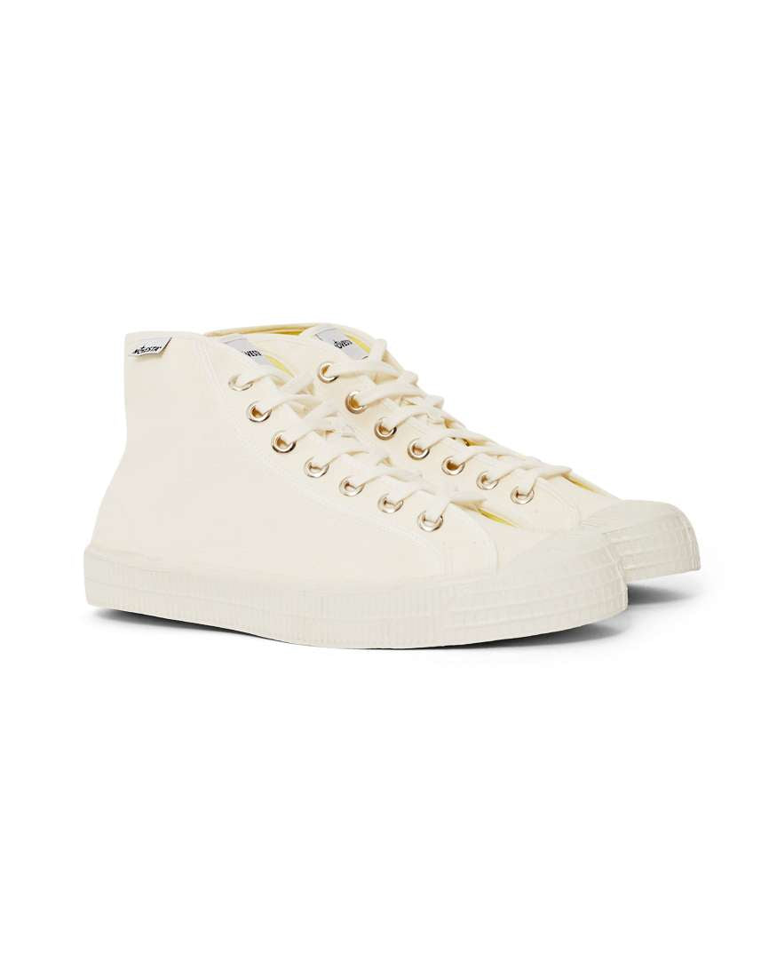 Mens White Novesta High Tops