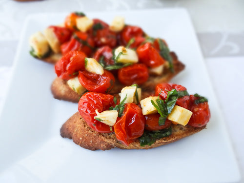Toasted Bruschetta ready to eat
