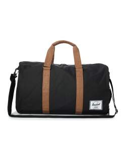 herschel black duffle bag for men