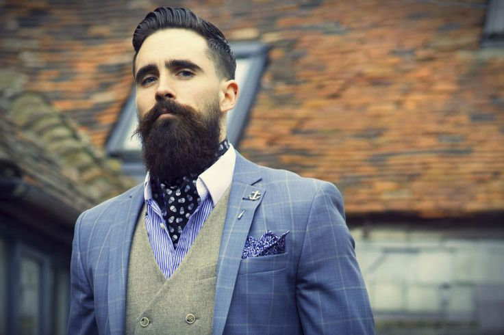 ascot-tie-man-beard-suit