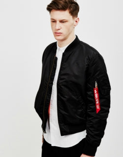 ALPHA INDUSTRIES MA1 VF 59 Bomber Jacket Black mens