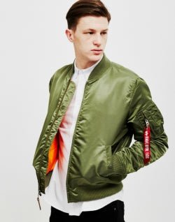 ALPHA INDUSTRIES MA1 VF-59 Bomber Jacket Green mens