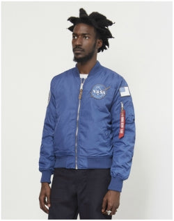 ALPHA INDUSTRIES MA1 VF NASA RP Jacket Blue Mens
