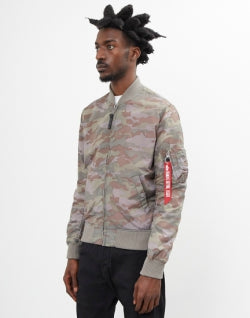 ALPHA INDUSTRIES Mens MA-1 TT Bomber Jacket Camo