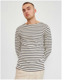 ARMOR LUX Mariniere Heritage Stripe T-Shirt White & Navy Mens