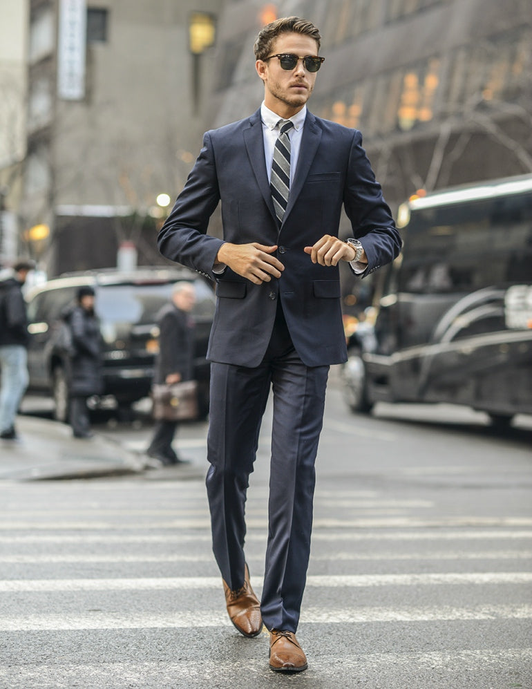 Adam Gallagher in a suit street style mens