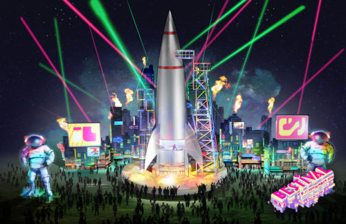 Artists impression spaceport stage bestival