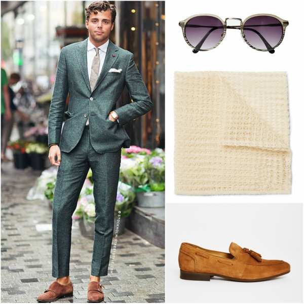 Autumn suit outfit grid