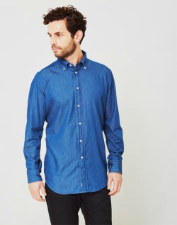 B.D. BAGGIES Classic Mens Light Denim Shirt