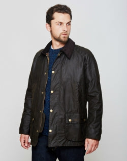 BARBOUR Ashby Waxed Field Jacket Green for Men