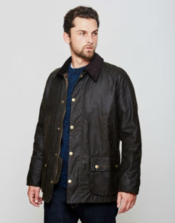 BARBOUR Ashby Waxed Field Jacket Green mens