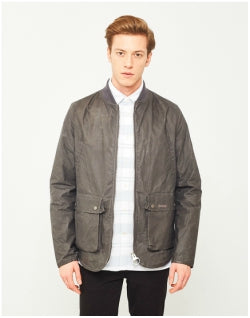 BARBOUR Camber Wax Jacket Grey Mens