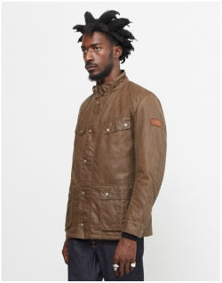 BARBOUR INTERNATIONAL Duke Wax Jacket Brown Mens