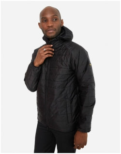 BARBOUR International Level Hooded Quilted Jacket Black Mens