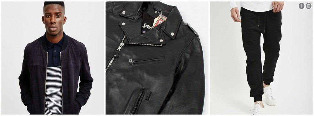 Biker and bomber jackets