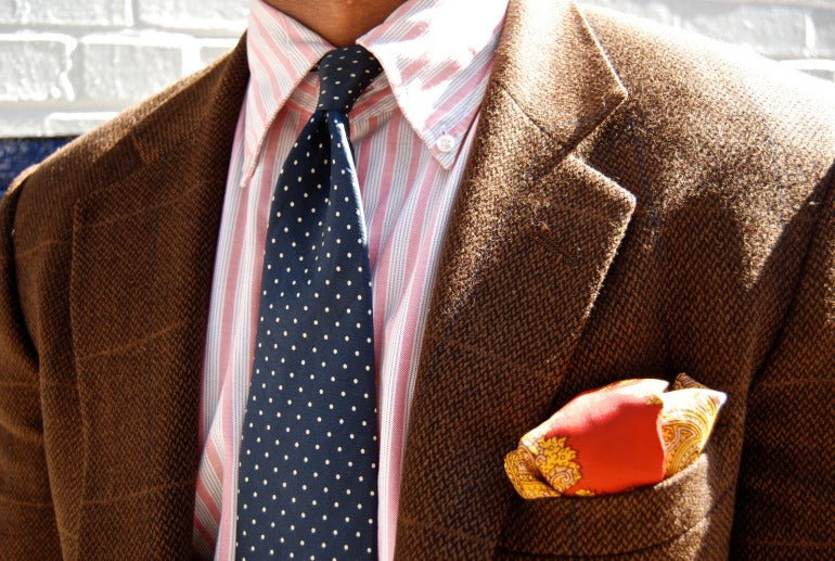 Brown Tweed Jacket and Tie
