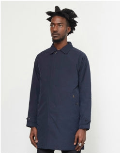 CARHARTT WIP Atlas Trench Coat Navy Mens