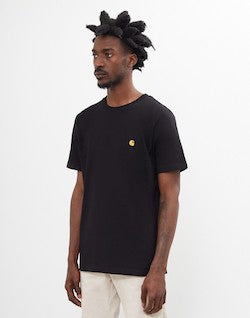 CARHARTT WIP Chase Short Sleeve T-Shirt Black