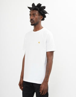 CARHARTT WIP Mens Chase Short Sleeve T-Shirt White