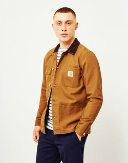 CARHARTT WIP Michigan Chore Coat Canvas Brown mens