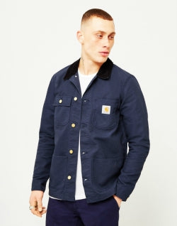 CARHARTT WIP Michigan Chore Coat Denim Blue mens