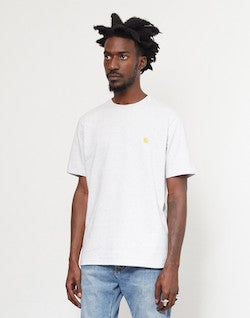 CARHARTT WIP Short Sleeve Chase T-Shirt Grey Heather