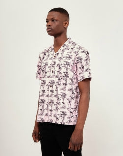 CARHARTT WIP Short Sleeve Pine Hawaii Shirt Pink mens