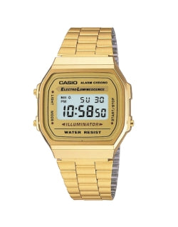 CASIO Digital A168WG-9EF Watch Gold Mens