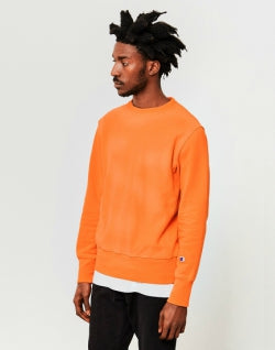 CHAMPION Garment Dyed Classic Reverse Weave Sweatshirt Orange mens
