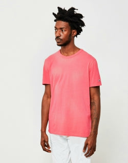CHAMPION Garment Dyed Classic T-Shirt Pink Mens