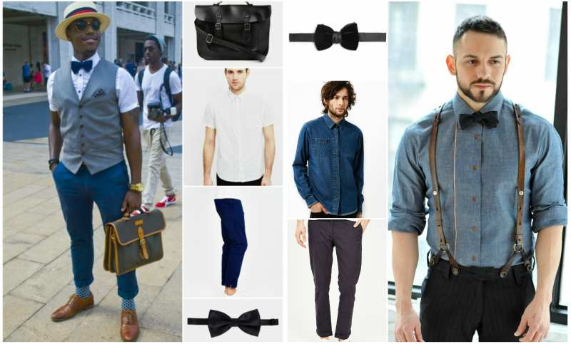Casual outfits for bow ties