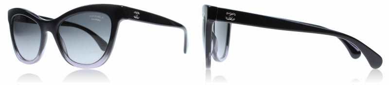 Perfect for a round face | Chanel 5350 Black - dark blue fade 1558S2