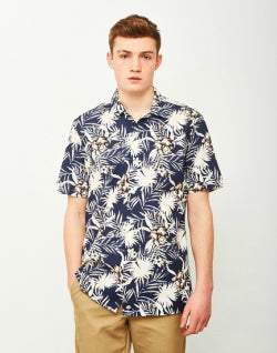 DICKIES Rivervale Hawaiian Shirt Navy