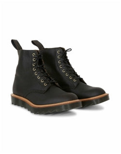 DR MARTENS MADE IN ENGLAND Pascal Ripple 8 Eye Boot Black Mens