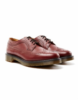 DR MARTENS Mens Wingtip Brogue Red
