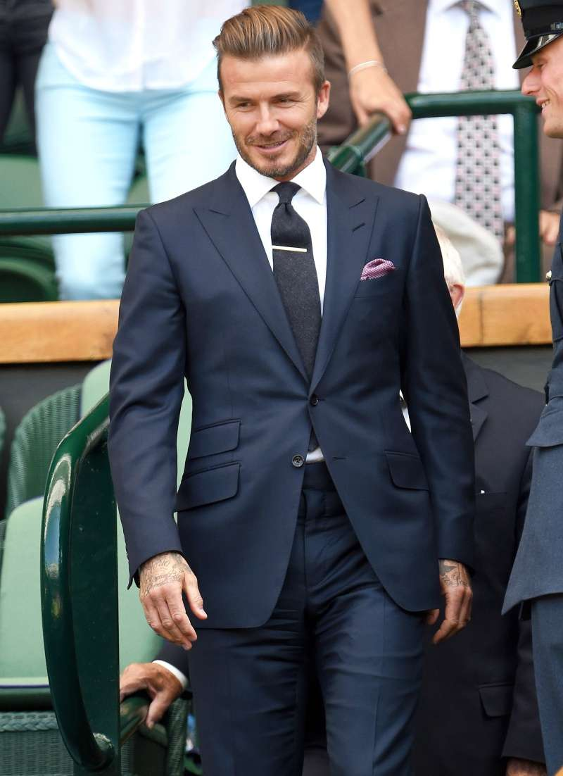 david beckham blue suit