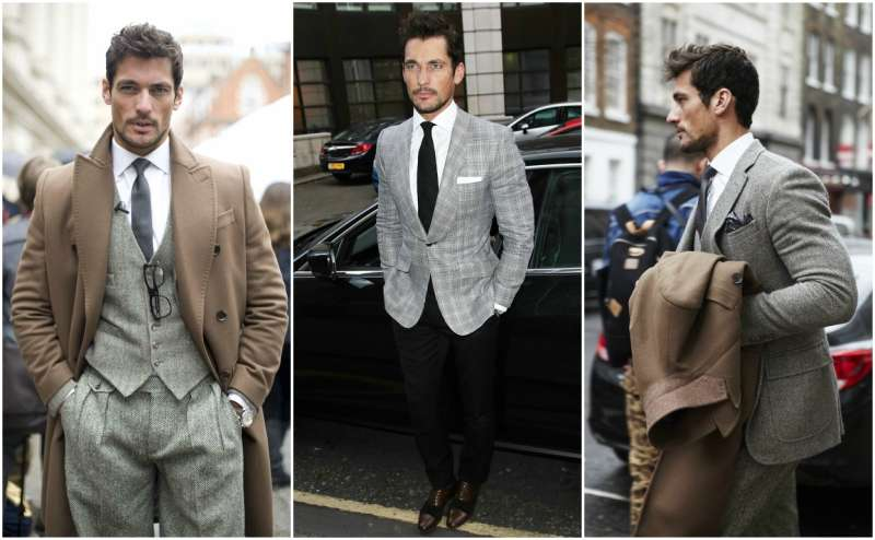 David gandy in a suit street style