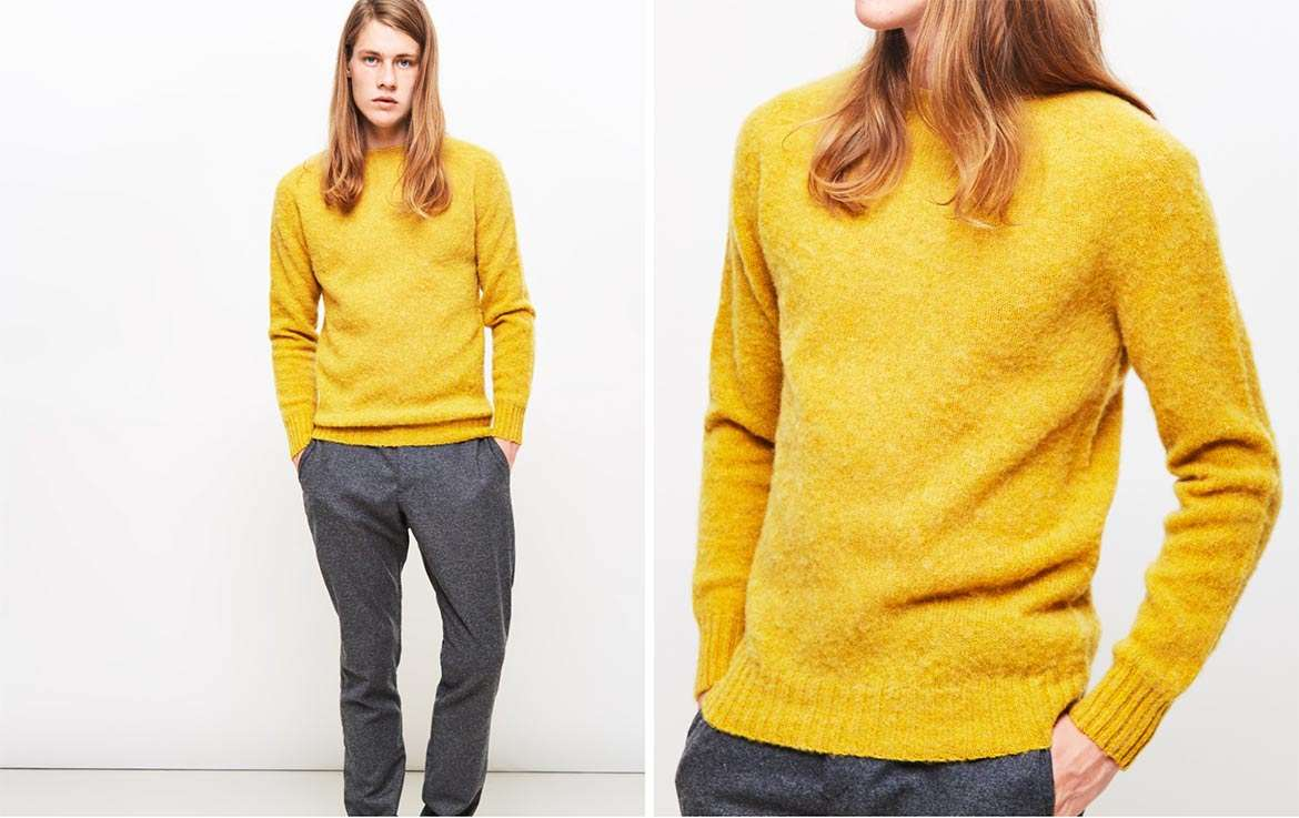 yellow jumper dinner date men