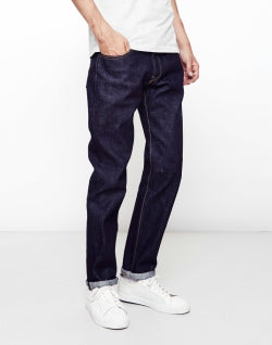 EDWIN Classic Mens, Japanese Rainbow Selvage, Regular Tapered, Washed Jeans
