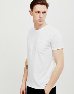 EDWIN Mens Pocket T-Shirt White
