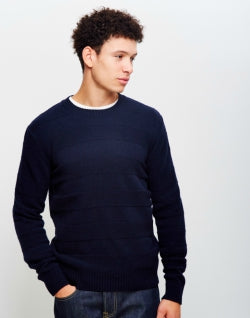 EDWIN Standard Stripes Mens Jumper Navy