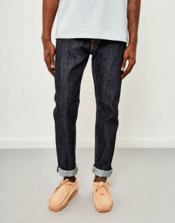 EDWINED-80, Mens Slim Tapered, Red Listed Selvedge Jeans, Unwashed