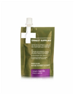 ERNEST SUPPLIES Soap Free Gel Face Wash Pouch 89ml Mens