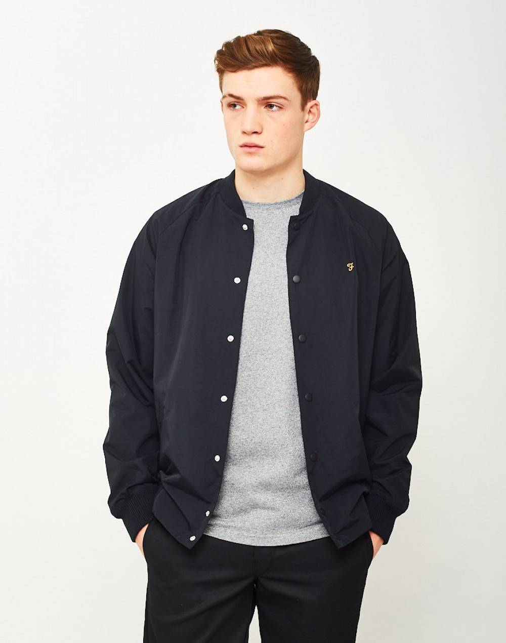 FARAH Mens Bellinger Bomber Jacket Black