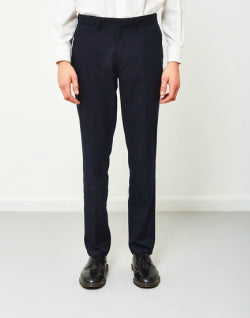 FARAH Denby Rigid Hopsack Trousers Navy mens