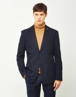 FARAH Lake Hopsack Blazer Navy mens